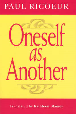 Oneself as Another (BOK)