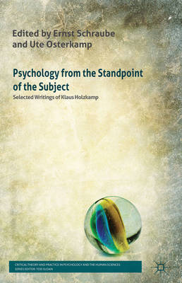 Psychology from the Standpoint of the Subject: Selected Writings of Klaus Holzkamp (BOK)