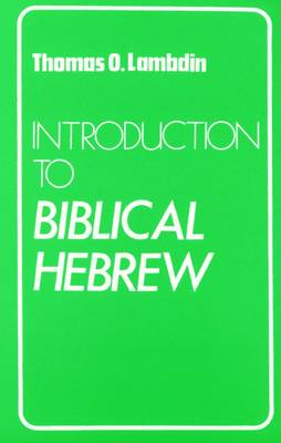 Introduction to Biblical Hebrew (BOK)