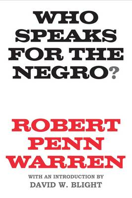 Who Speaks for the Negro? (BOK)