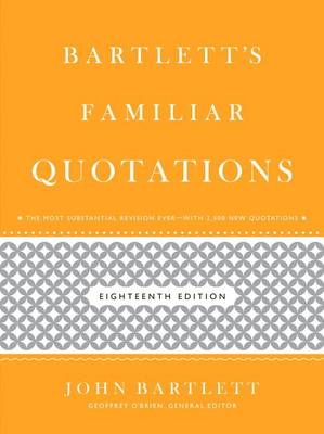 Bartlett's Familiar Quotations (BOK)