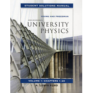 University Physics: v. 1, Chapters 1-20: Student Solutions Manual (BOK)