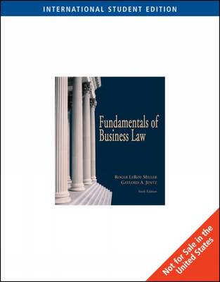 Fundamentals of Business Law with Online Research Guide (BOK)
