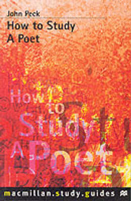 How to Study a Poet (BOK)