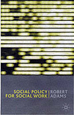 Social Policy for Social Work (BOK)