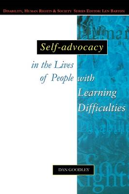 Self-Advocacy In The Lives Of People With Learning Difficult (BOK)