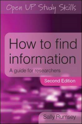 How to Find Information: A Guide for Researchers (BOK)