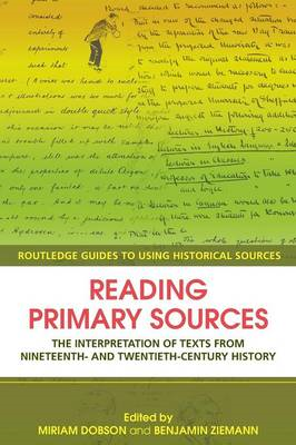 Reading Primary Sources (BOK)