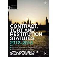 Contract, Tort and Restitution Statutes 2012-2013 (BOK)