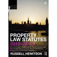Property Law Statutes 2012-2013 (BOK)
