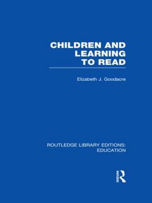Children and Learning to Read (BOK)