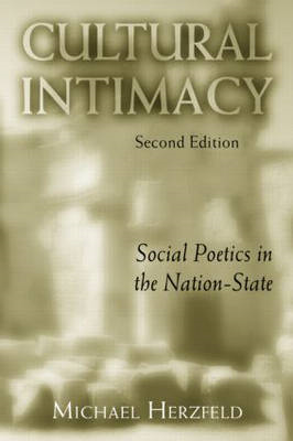 Cultural Intimacy: Social Poetics in the Nation-state (BOK)
