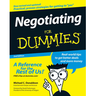 Negotiating For Dummies (BOK)