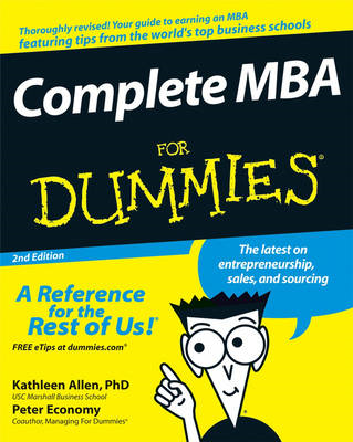 Complete MBA For Dummies (BOK)