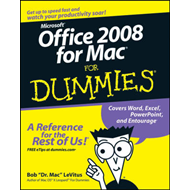 Office 2008 for Mac For Dummies (BOK)
