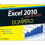 Excel 2010 Just the Steps For Dummies (BOK)