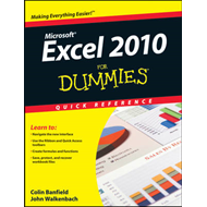 Excel 2010 For Dummies Quick Reference (BOK)