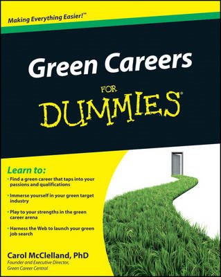 Green Careers For Dummies (BOK)