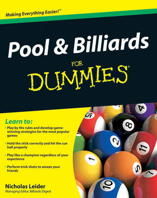 Pool and Billiards For Dummies (BOK)