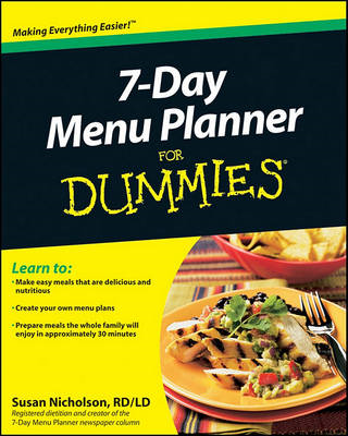 7-Day Menu Planner For Dummies (BOK)
