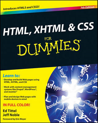 HTML, XHTML and CSS For Dummies (BOK)