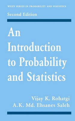 An Introduction to Probability and Statistics (BOK)
