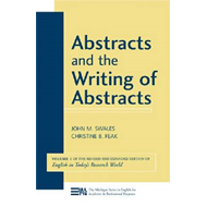 Abstracts and the Writing of Abstracts: v. 1 (BOK)