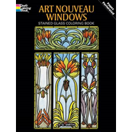 Art Nouveau Windows Stained Glass Coloring Book (BOK)