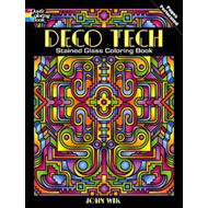 Deco Tech Stained Glass Coloring Book (BOK)