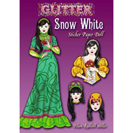 Glitter Snow White Sticker Paper Doll (BOK)