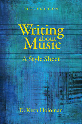 Writing about Music (BOK)