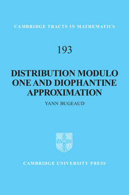 Distribution Modulo One and Diophantine Approximation (BOK)