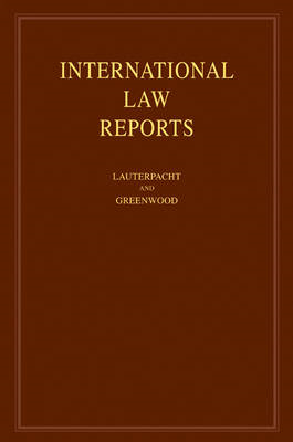 International Law Reports: Volume 138: v. 138 (BOK)