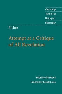 Fichte: Attempt at a Critique of All Revelation (BOK)
