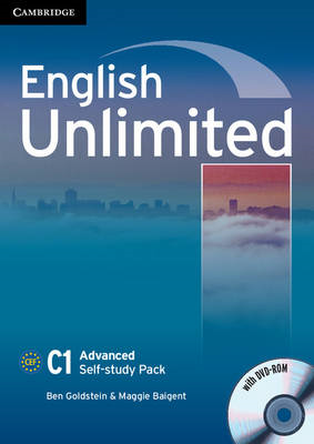English Unlimited Advanced Self-study Pack (workbook with DVD-ROM) (BOK)