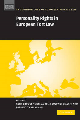 Personality Rights in European Tort Law (BOK)