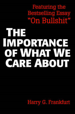 Importance of What We Care About (BOK)