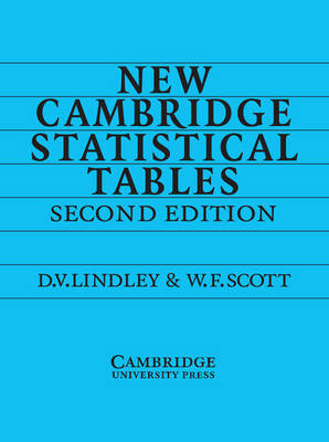 New Cambridge Statistical Tables (BOK)