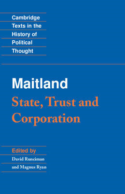 Maitland: State, Trust and Corporation (BOK)