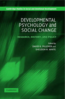 Developmental Psychology and Social Change: Research, History and Policy (BOK)