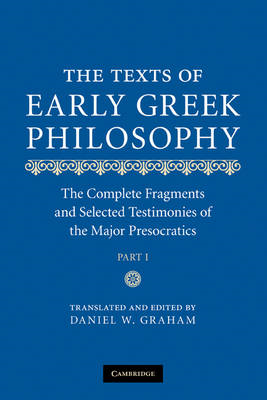 Texts of Early Greek Philosophy (BOK)