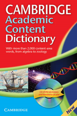 Cambridge Academic Content Dictionary Reference Book with CD (BOK)