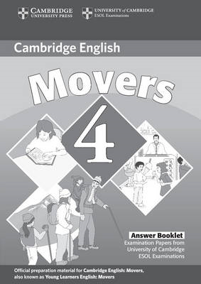 Cambridge Young Learners English Tests Movers 4 Answer Booklet: Examination Papers from the Universi (BOK)