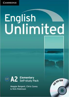 English Unlimited Elementary Self-study Pack (Workbook with DVD-ROM) (BOK)