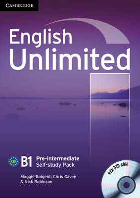 English Unlimited Pre-intermediate Self-study Pack (Workbook with DVD-ROM) (BOK)