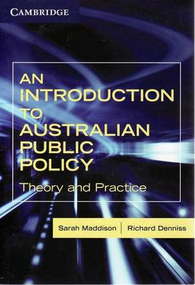 An Introduction to Australian Public Policy: Theory and Practice (BOK)