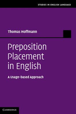 Preposition Placement in English: A Usage-based Approach (BOK)
