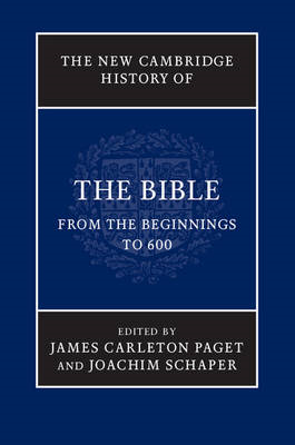 New Cambridge History of the Bible: Volume 1, From the Begin (BOK)