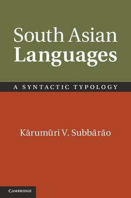 South Asian Languages: A Syntactic Typology (BOK)