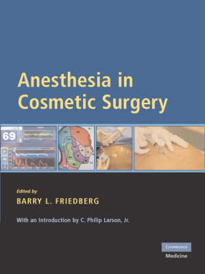 Anesthesia in Cosmetic Surgery (BOK)